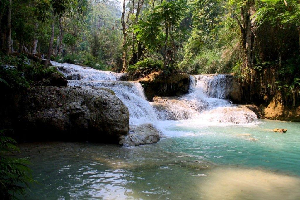 Kuang Si waterfalls pools