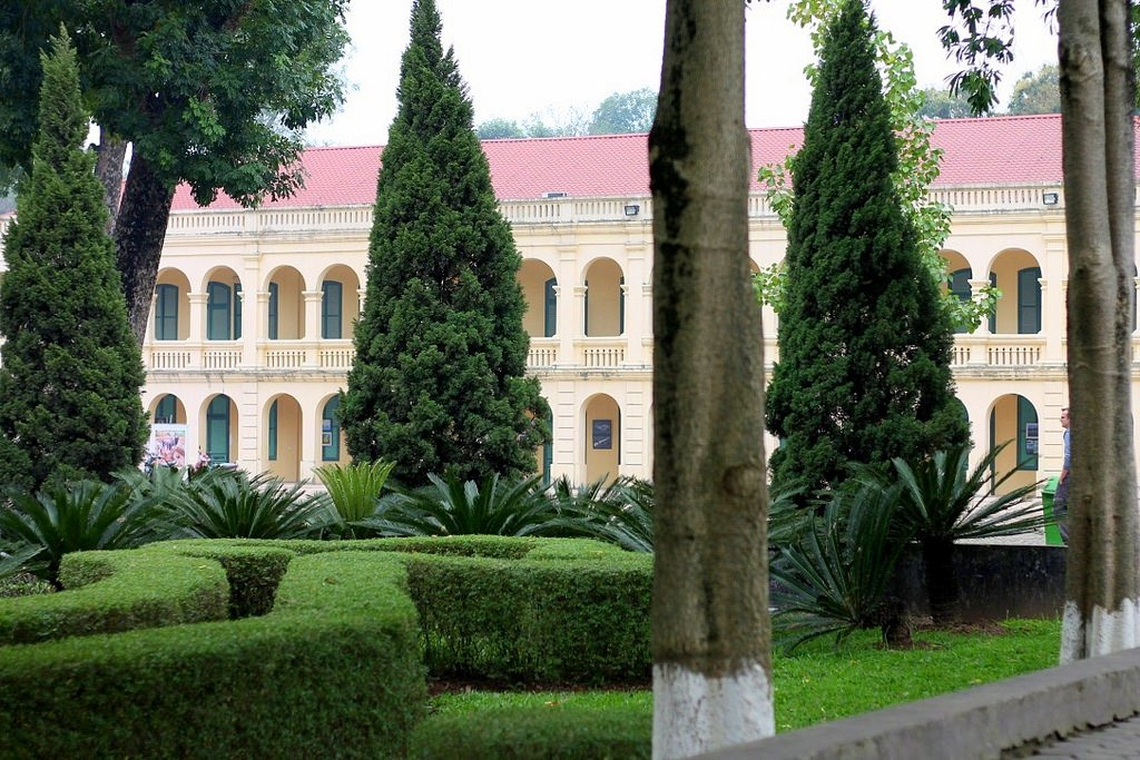 Imperial Citadel in Hanoi - military base, secret bunkers and peaceful surroundings, Vietnam