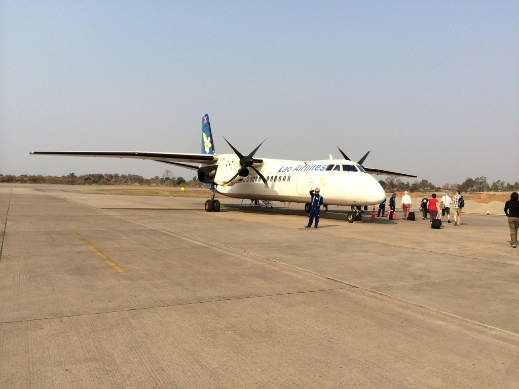 We flew Laos airlines from Vientiane to Hanoi
