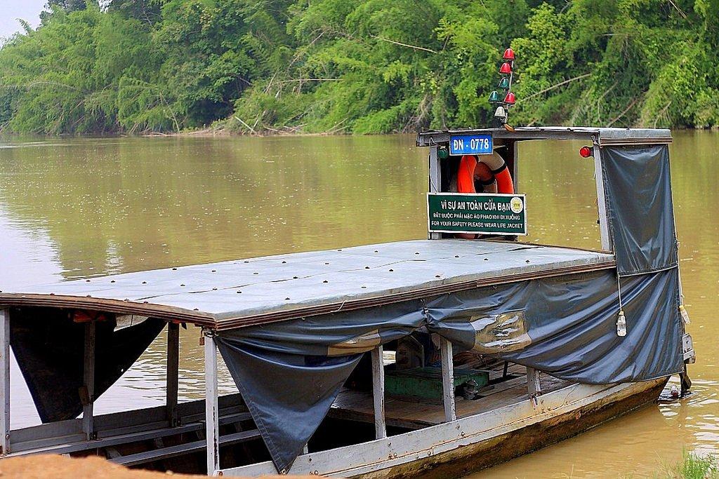Cat Tien Nationa Park - boat