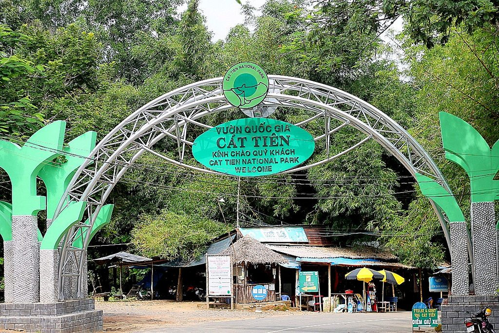 Cat Tien national Park - entrance sign