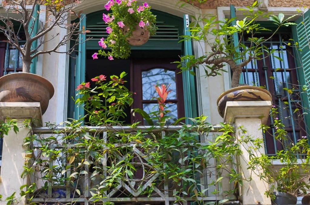balconies and shutters in hanoi