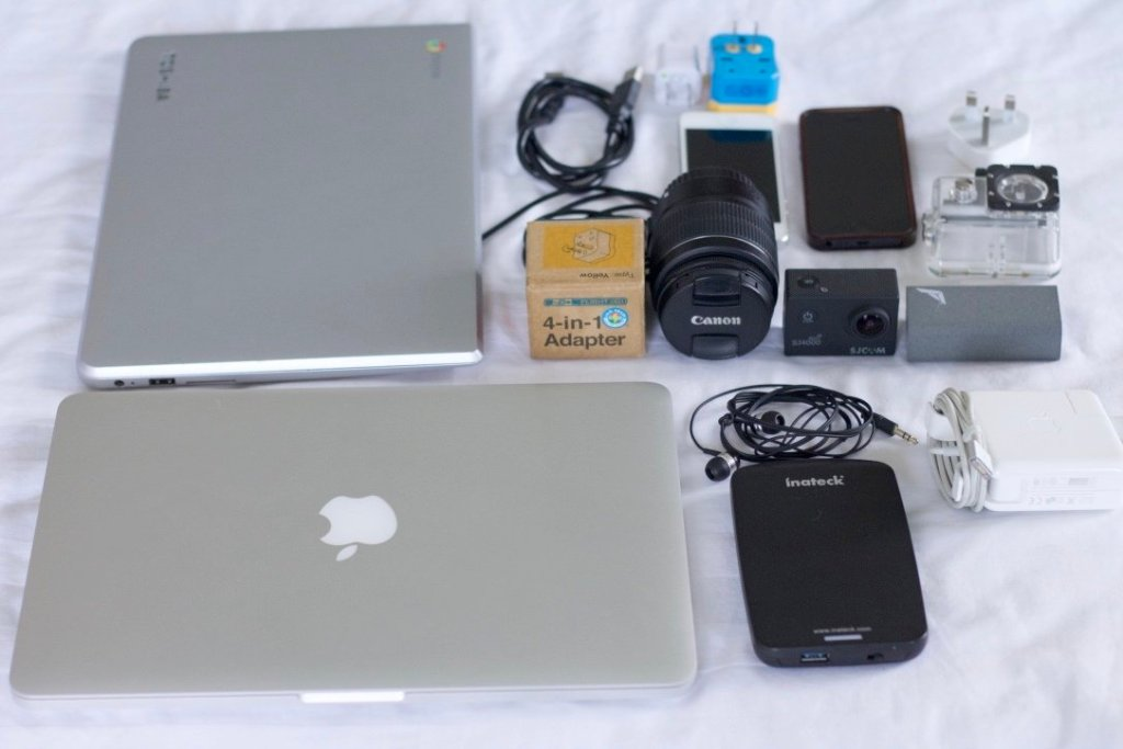 packing for travel gadgets