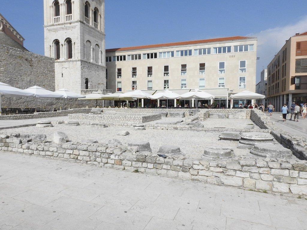 roman ruins, zadar, croatia