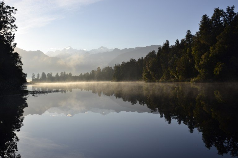 Where to travel in 2018 - New Zealand, Sunrise at Lake Matheson