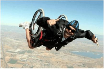 wheelchair sky dive