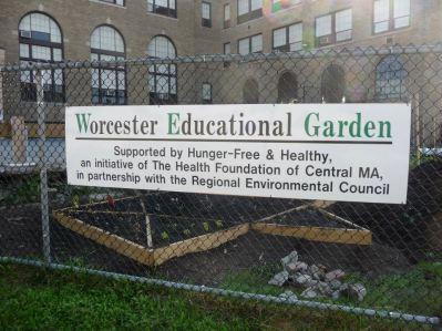 WE Garden Sign