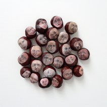 Me and the others, tempera on chestnut, 2012