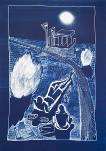 Blue days, blue nights serries - cyanotype