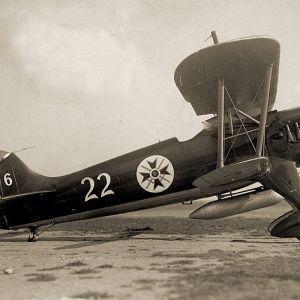 Maquetas hechas - heinkel-he-51 Vista lateral trasera foto bn