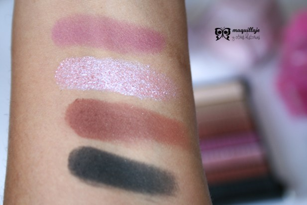 swatches paleta ALLURE-Revolution Pro