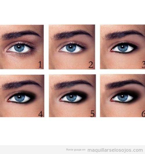 maquillaje de ojos ahumados en pasos