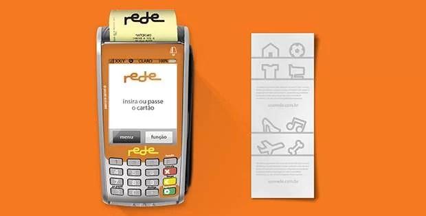 máquina de cartão de crédito Rede