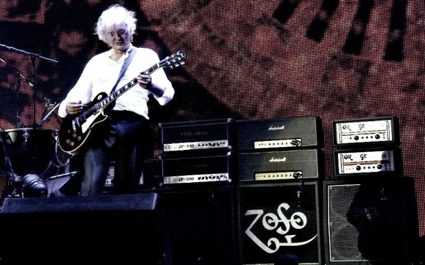 Amplificadores do Jimmy Page no show na O2 Arena