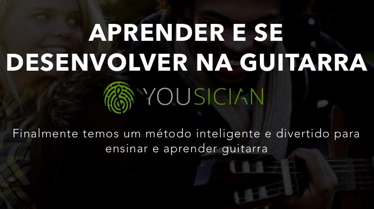 Aprender e se desenvolver na guitarra com yousician
