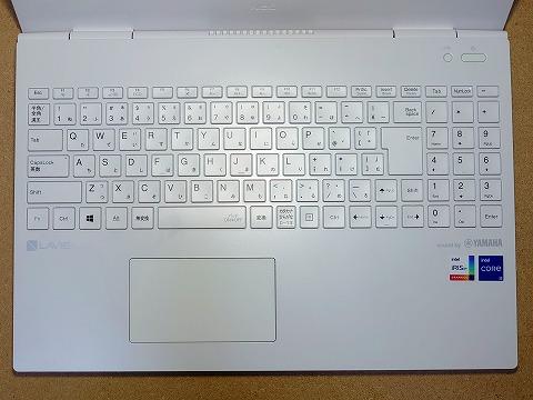 【実機レビュー】NECノートパソコンLAVIE Direct N15の口コミ評価&評判まとめ PC-GN244RUAN キーボード拡大