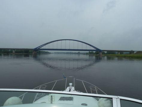 Die Elb-Brücke bei Dömitz