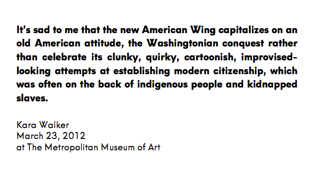 Kara Walker, American History, American Art