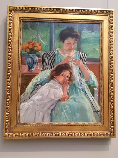 mary cassatt, mother, american woman, american art