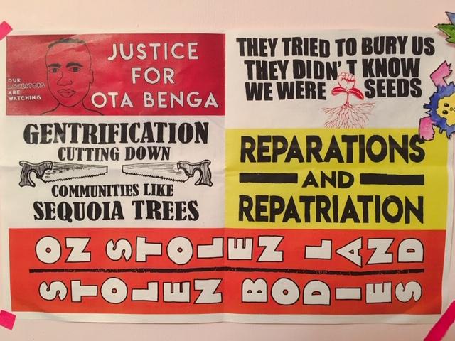 reparations, repatriation, gentrification