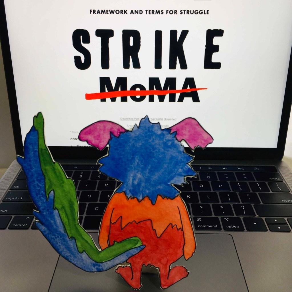 Marabou reads Strike MoMA Website