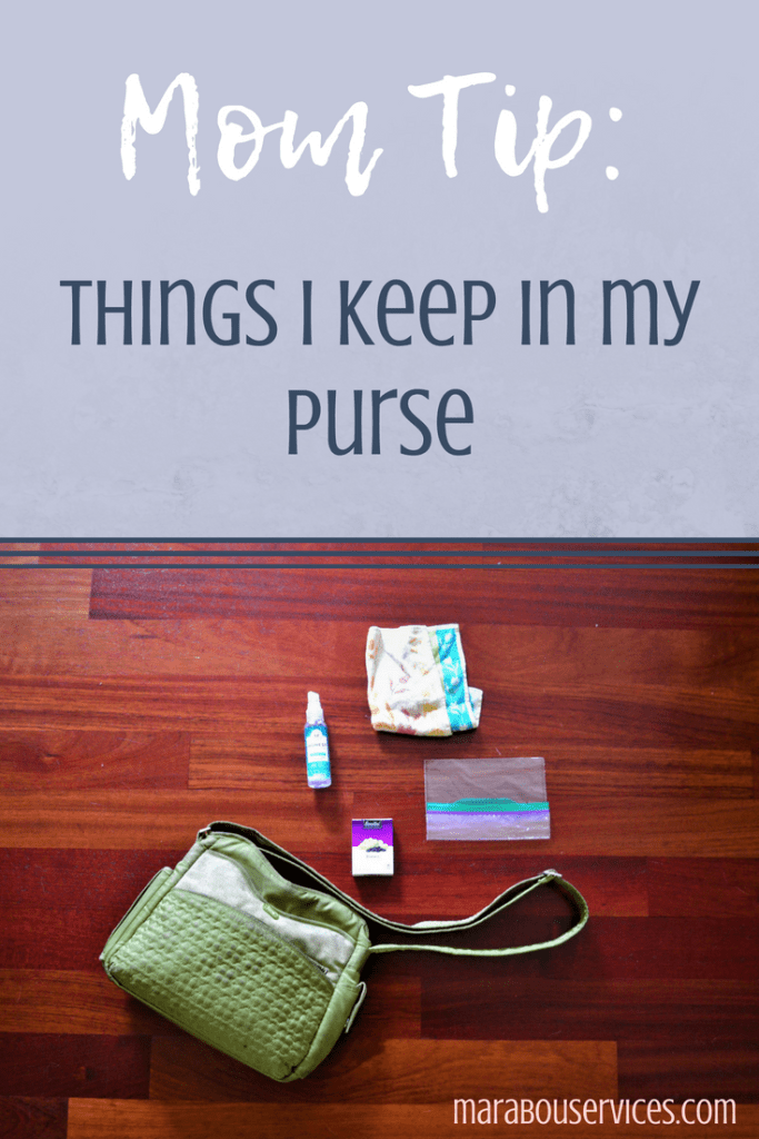 Mom Tip: Things I Keep In My Purse