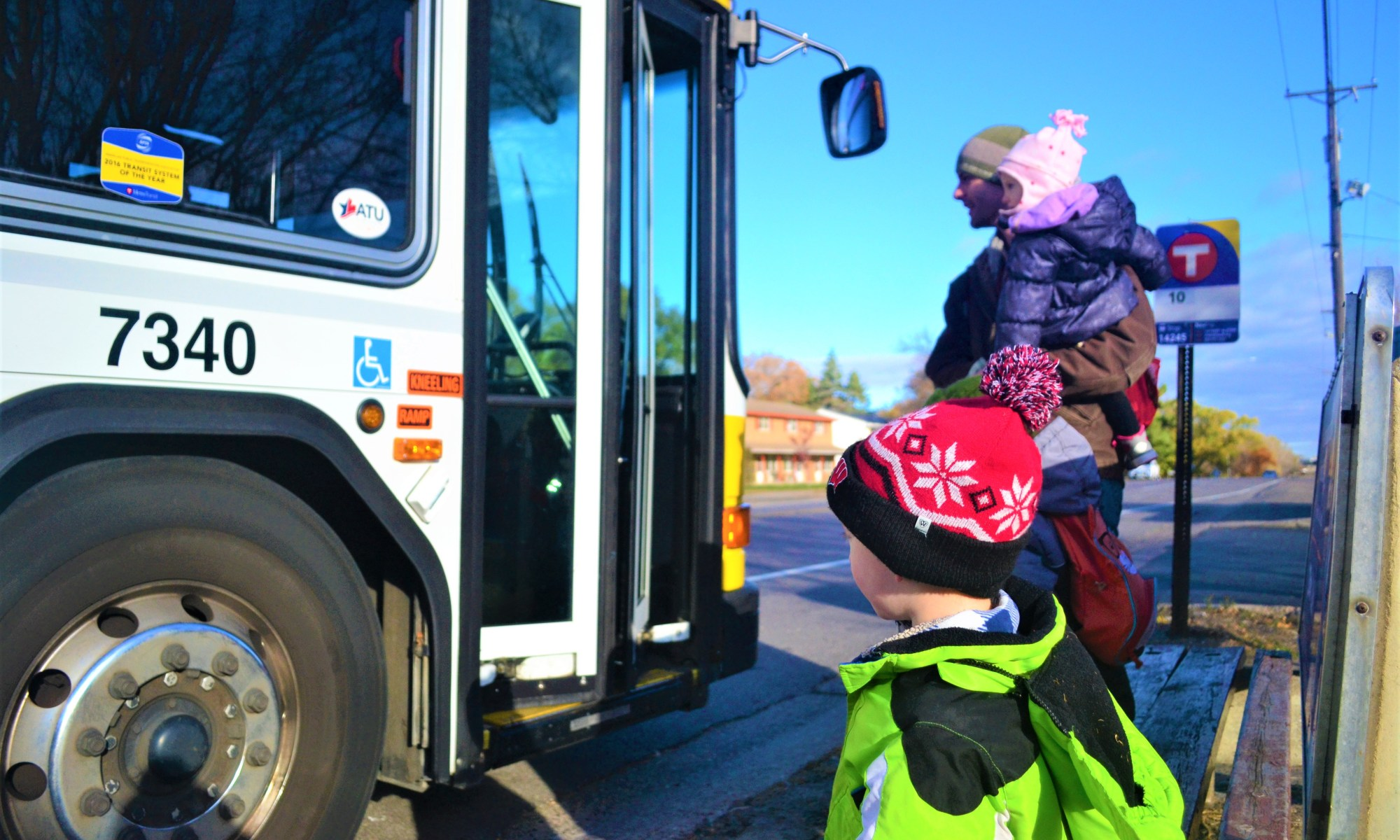Dad Life: Taking your kids on the bus!