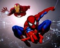 Homem Aranha e Homem de Ferro juntos