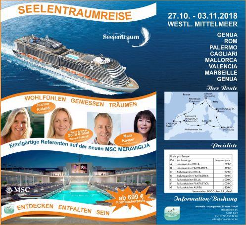 2018 Kreuzfahrt Seelentraumreise FAB Flyer mit Preisen AM