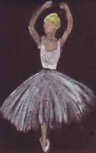 Bailarina con tiza