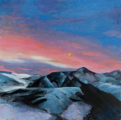 Icelandic Glaciers: Pink and Blue Sunset