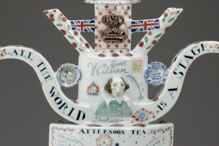 """Oh Britannia"" 2006 Sculptural Teapot. 27"" x 29"" x 15"" Private Collection."