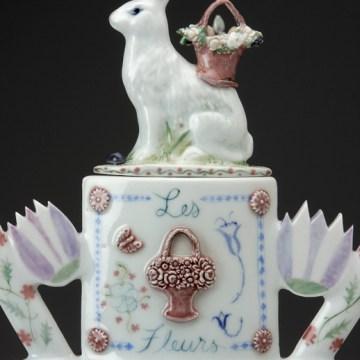 """Mara Superior, """"A Spring Dream Rabbit Teapot"""", 2008, detail"""