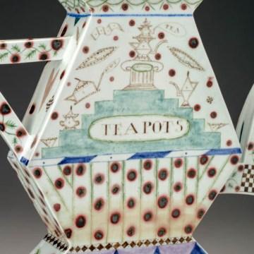"Mara Superior, ""A Pennsylvania Teapot"", 1987, detail"