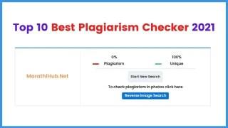 Top 10 best plagiarism checker
