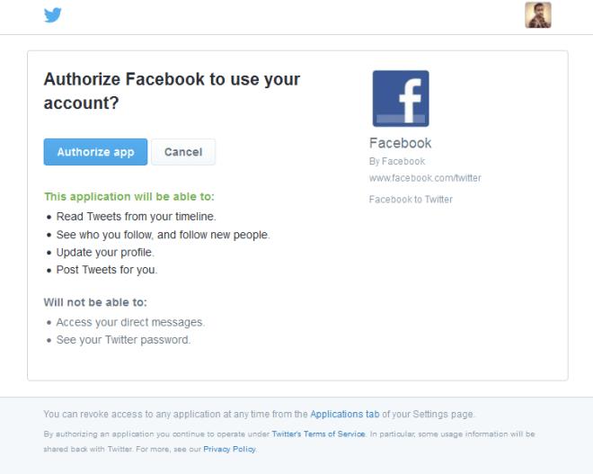 फेसबुक ट्विटरशी जोडा