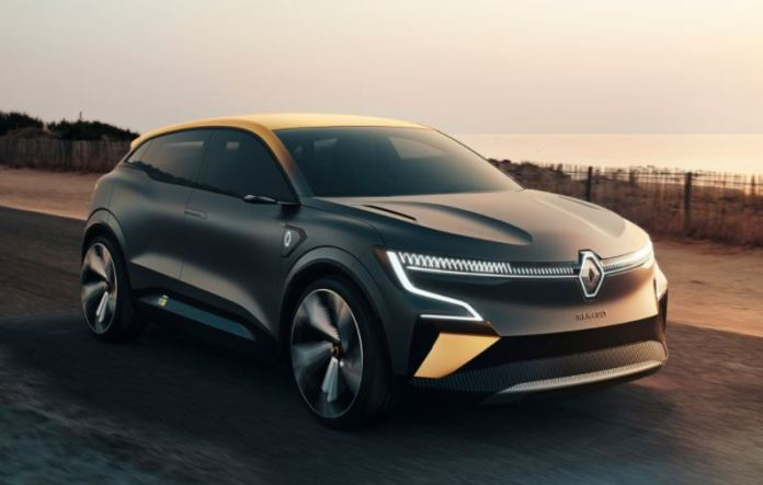 Megane E car by renault complete look