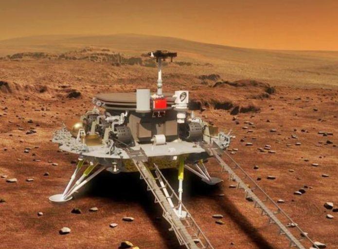 चीनचे मंगळावर पाउल