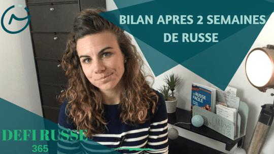defi parler russe 365 bilan apres 2 semaines