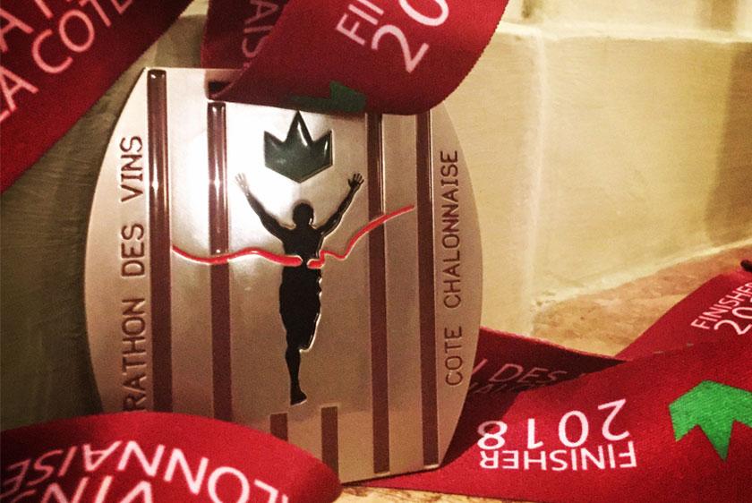 Médaille du marathon des vins de la côte chalonnaise 2018