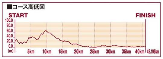 金沢マラソンコースの高低差