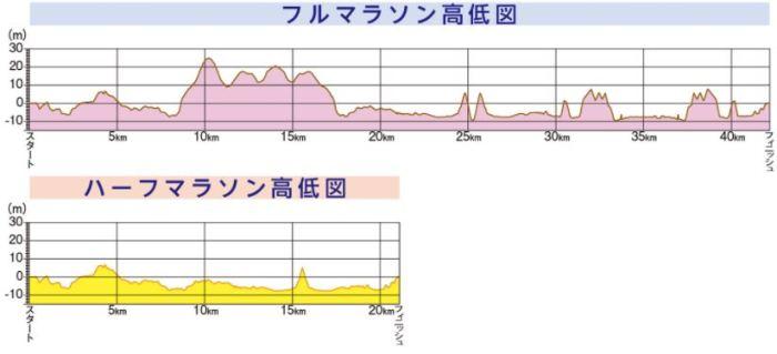 函館マラソン 高低差