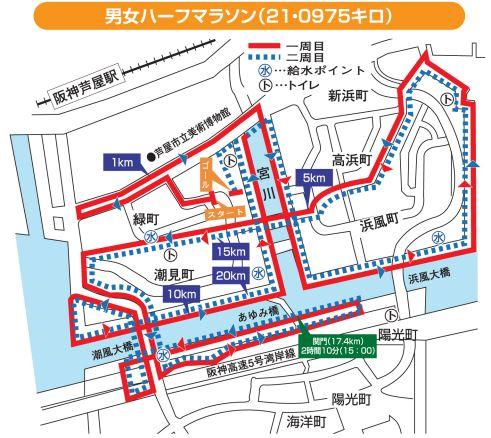 芦屋さくらファンラン コース
