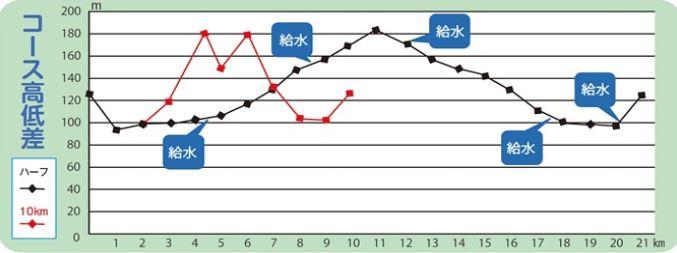 山香エビネマラソン 高低差