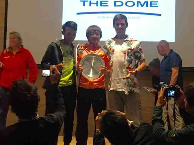 Tommy Chen (2nd Place), Wataru Iino (1st Place), and little old me (3rd place)