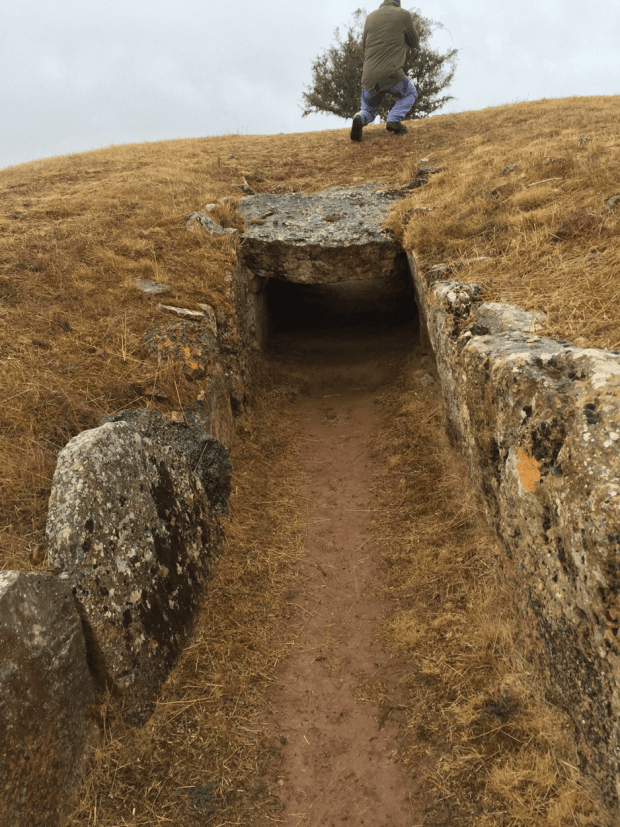The trail on day 2 takes you through this burial mound…