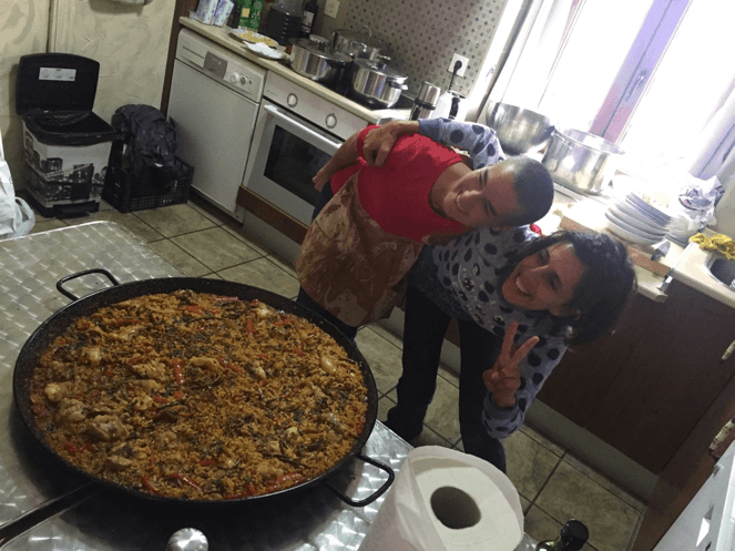 The Two Marias and a Lot of Paella