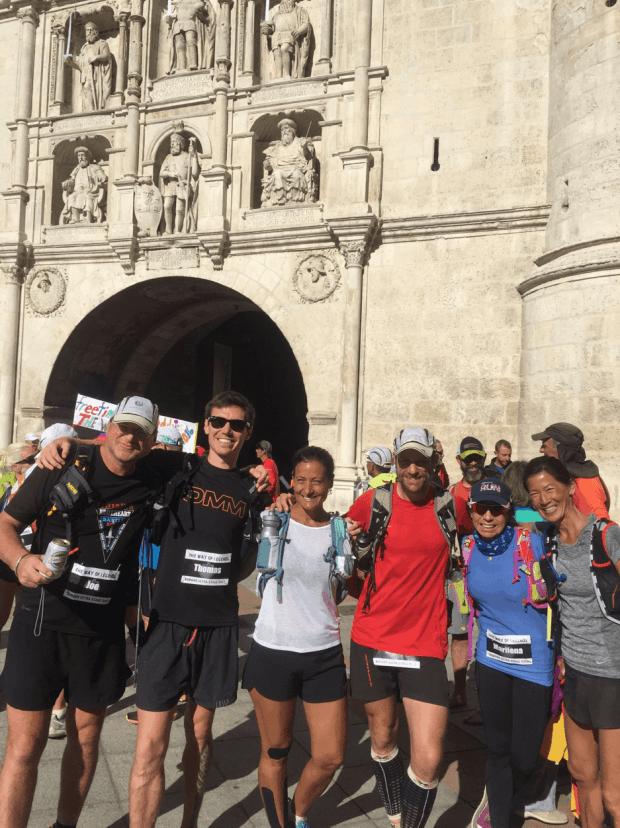 Joe Kelbel, me, Yaneisy, Daniel, Marilena and Karen at the finish line