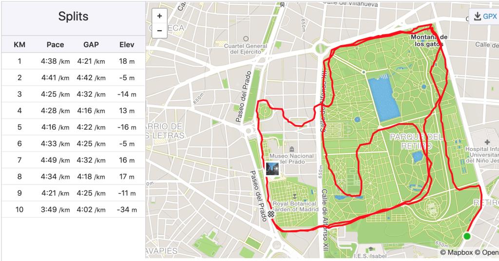 10km 45 minutes