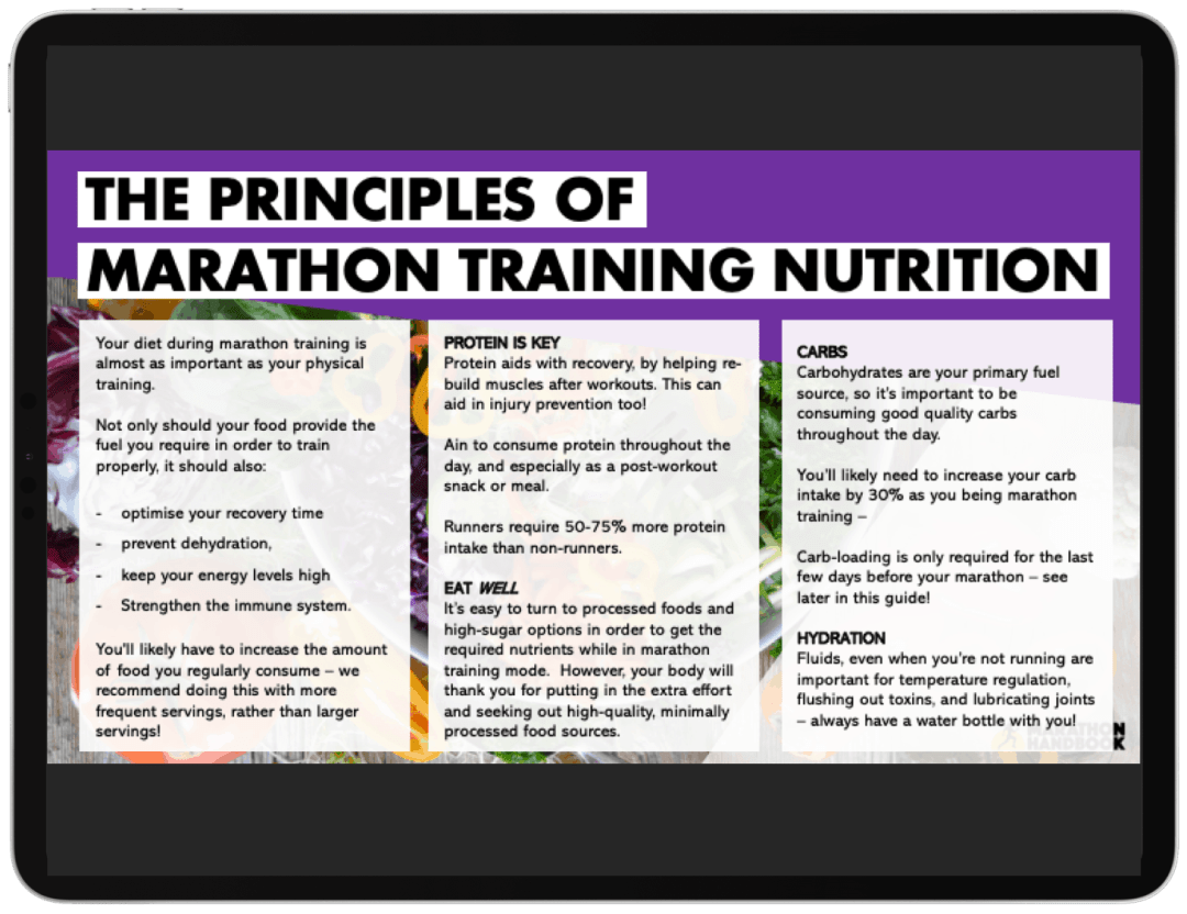 Marathon Training Meal Plans - FREE DOWNLOAD 1
